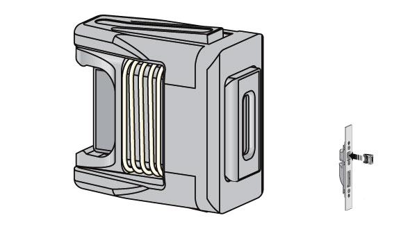 magnete per serratura multipunto as3500 k3390 siegenia kfv. Black Bedroom Furniture Sets. Home Design Ideas