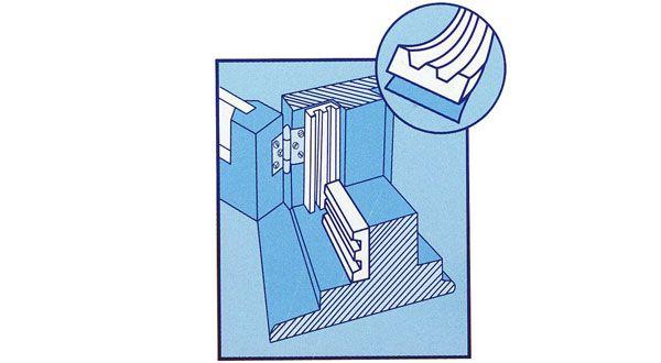 Guarnizione adesiva paraspifferi profilo e tesa e - Paraspifferi per finestre ...