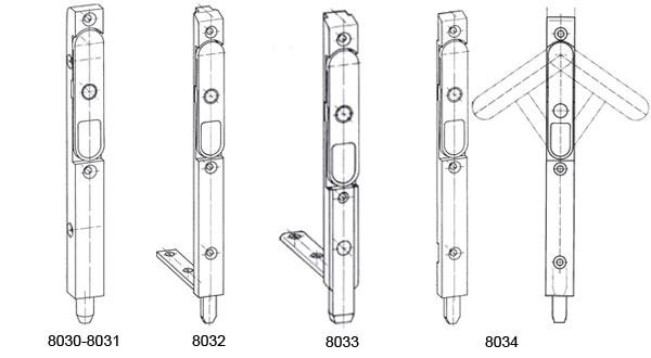 Catenaccio anta semifissa k3050 siegenia kfv k3050 - Cerniere per finestre in legno ...