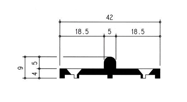 Binario inferiore basso mod sasbi06 fantacci sasbi06 - Ferramenta per finestre scorrevoli ...