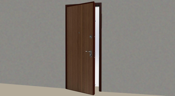 Porta blindata cl 3 serie basic bauxt b16 - Guarnizione porta blindata ...