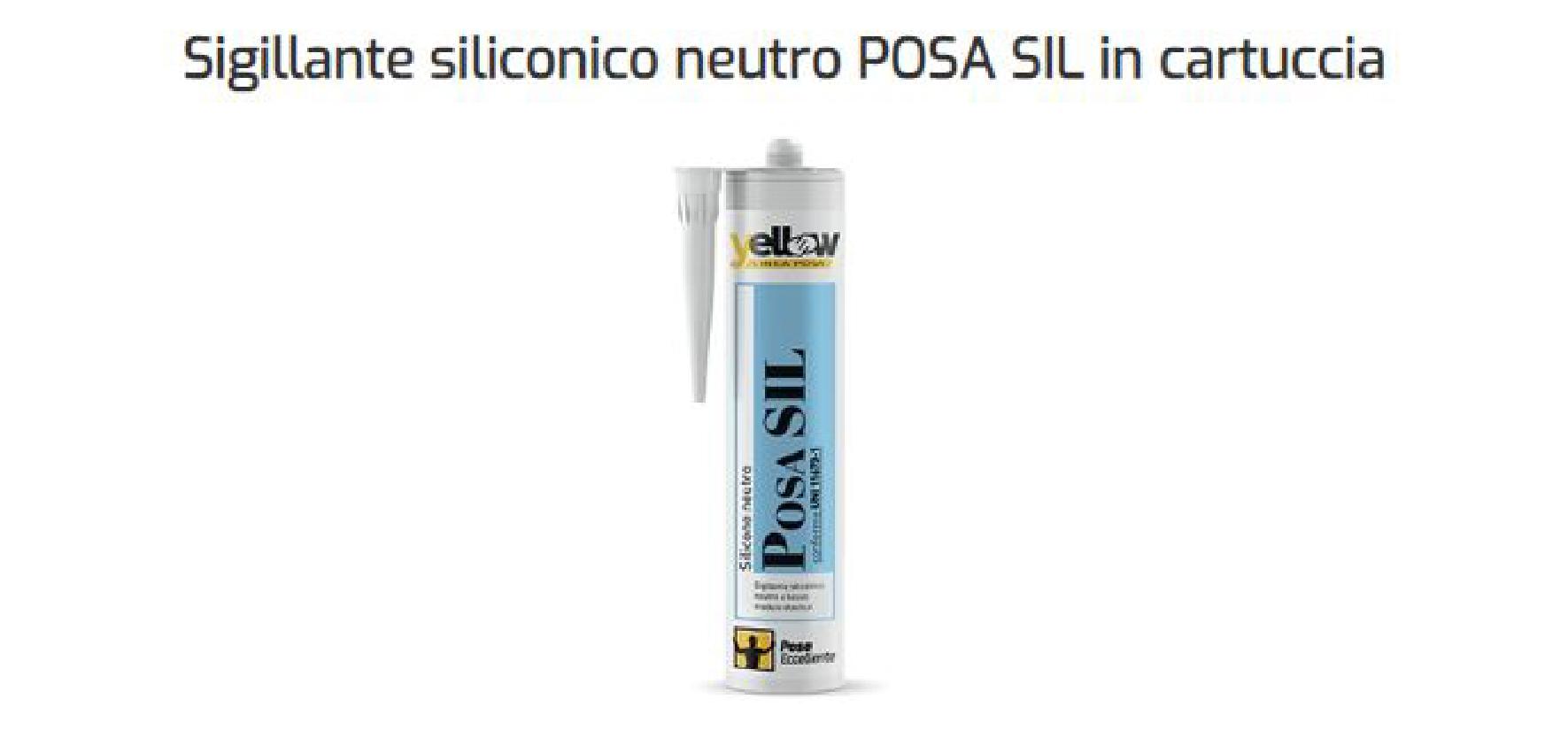 Sigillante siliconico neutro posa SIL idonea UNI 11673-1 posa serramenti